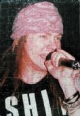 Guns N'Roses - Axl Singing (Black) Jigsaw